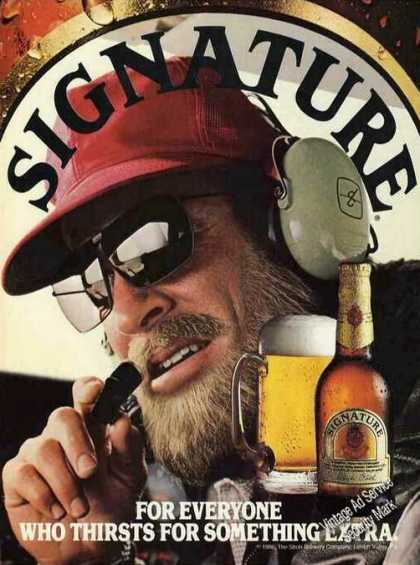 Signature Beer By Strohs Impressive Collectible (1984)