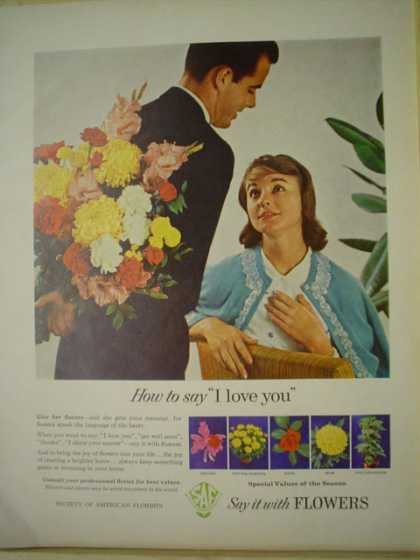 Society of American Florists How to say I love you. (1961)