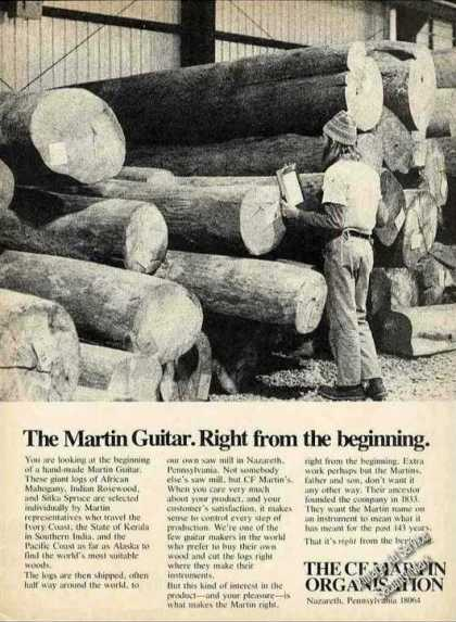 """The Martin Guitar. """"From the Beginning"""" Logs (1976)"""