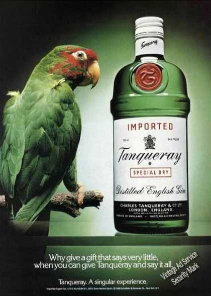Colorful Parrot Photo Tanqueray (1989)