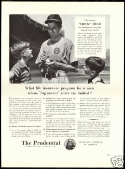 Baseball Chick Mead Prudential Insurance (1940)