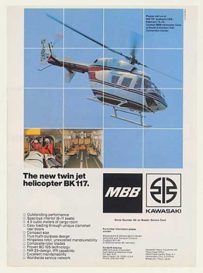 MBB BK 117 Twin Jet Helicopter Photo (1983)