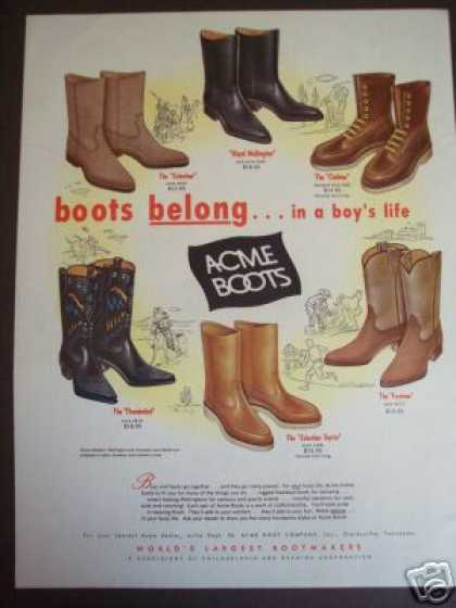 Acme Cowboy Boots for Boys (1963)