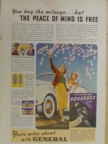 General Tires The peace of mind is free (1939)