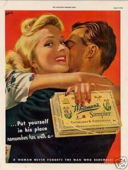 """Whitman's Chocolate Candy Ad """"Put Yourself... (1942)"""