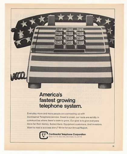 Continental Telephone Fastest Growing Phone (1973)