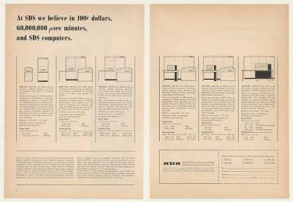 SDS 92 910 920 925 930 9300 Computers 4-Page (1964)
