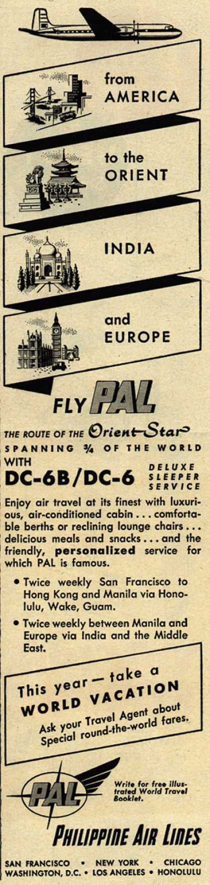 Philippine Air Line's Orient Star – from America to the Orient India and Europe (1953)