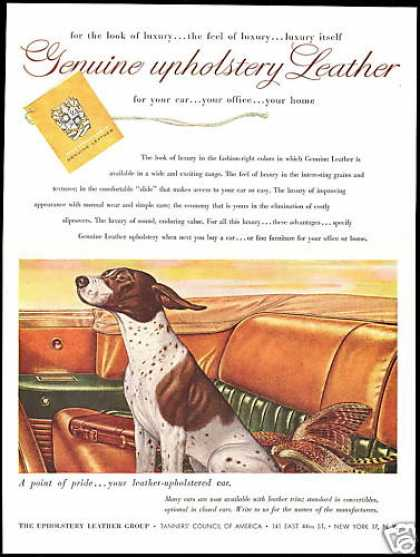 Pointer Hunting Dog Pheasant Tanners Council (1952)