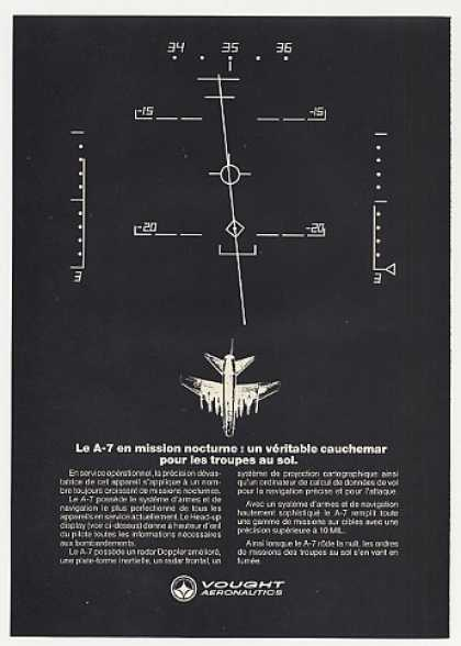 Vought A-7 Aircraft HUD Head-Up Display French (1972)