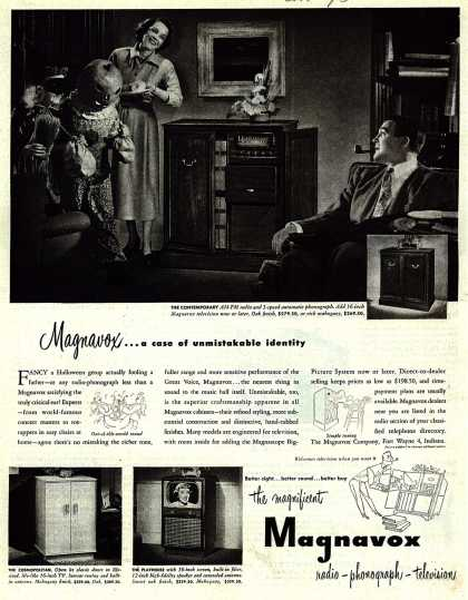 Magnavox Company's Television – Magnavox... a case of unmistakable identity (1950)