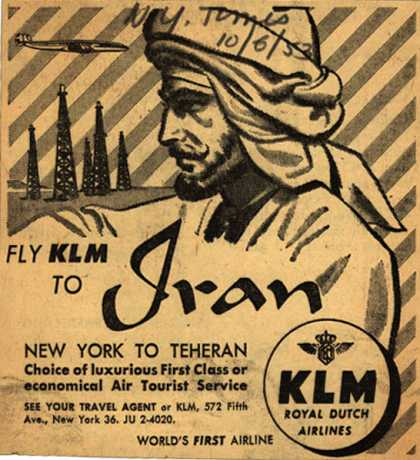 KLM Royal Dutch Airline's Iran – Fly KLM to Iran (1953)