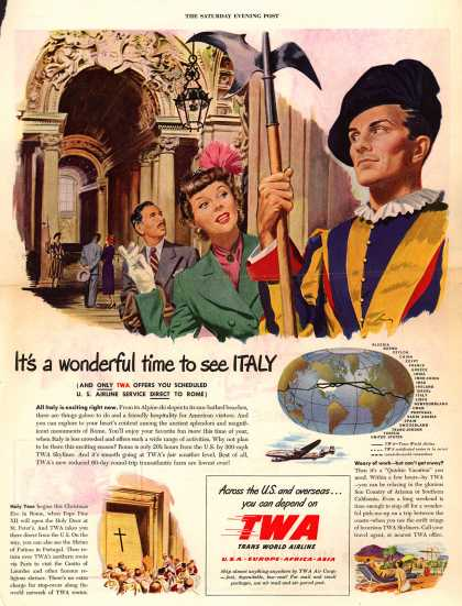 Trans World Airline's Italy – It's a wonderful time to see ITALY (1949)