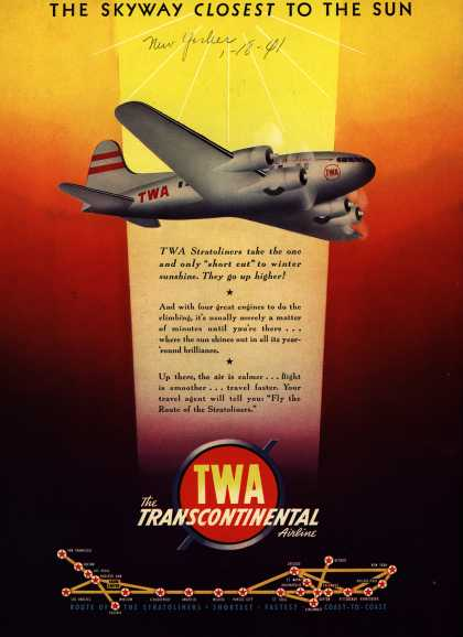 Transcontinental & Western Air's Stratoliner – The Skyway Closest To The Sun (1941)