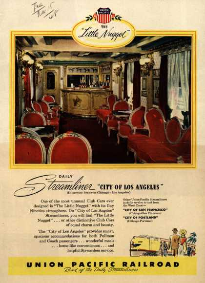 """Union Pacific Railroad's City of Los Angeles – The """"Little Nugget"""" Daily Streamliner """"City of Los Angeles"""" (1948)"""