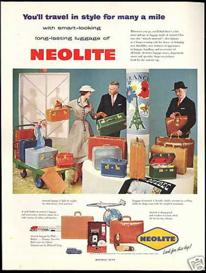 Neolite Luggage Travel In Style (1954)
