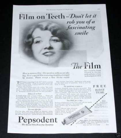 Old , Pepsodent Dentifrice (1929)