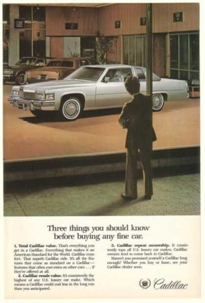 Cadillac Three Things You Should Know Showroom (1978)