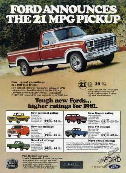 Ford Announces the 21 Mpg Pickup Truck (1981)
