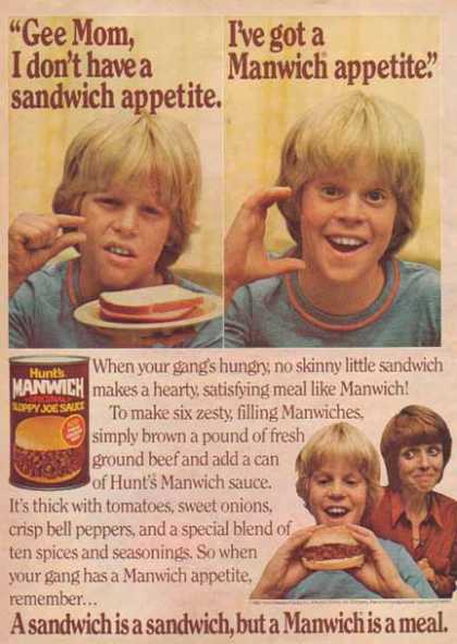 Hunt Wesson Foods Incorporated – Manwich (1981)