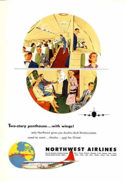 Northwest Airlines Stratocruisers 2 Story (1953)