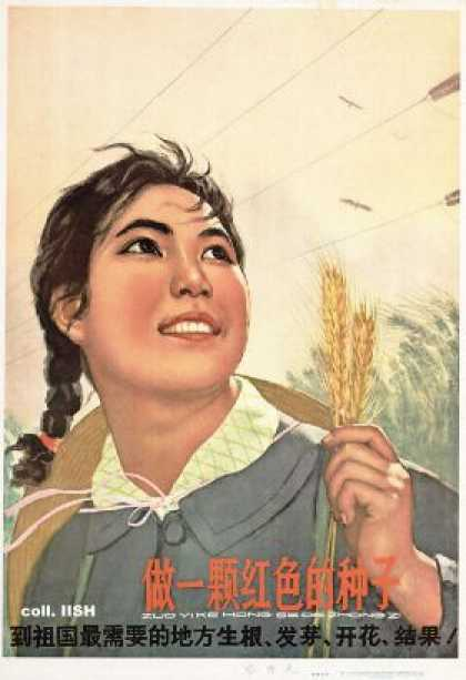 Become a red seedling – Strike root, flower and bear seeds in the places the motherland needs it most (1965)