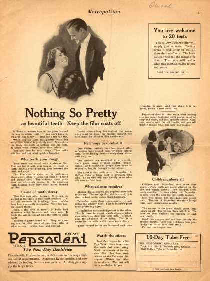 Pepsodent Company's Pepsodent Tooth Paste – Nothing So Pretty (1922)