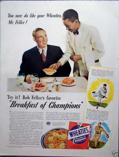 Wheaties Cereal Bob Feller Cleveland Indians (1941)