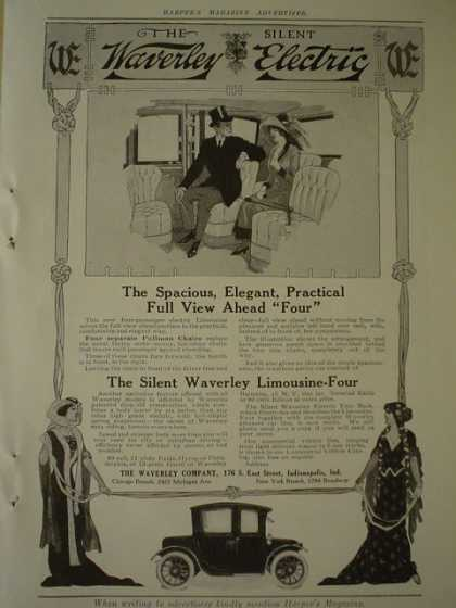 The Waverly Car Co The Waverly electric silent Limousine (1913)