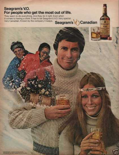 Seagram's Whisky Playing In Snow (1972)