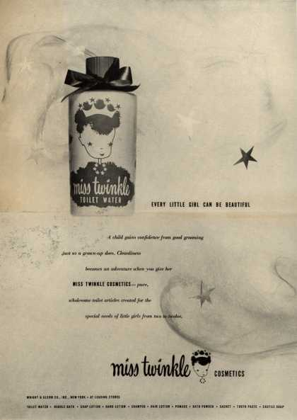 Wright & Glenn Co.'s Miss Twinkle Cosmetics – Every Little Girl Can Be Beautiful (1946)