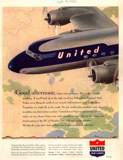 United Air Lines – Good afternoon (1950)