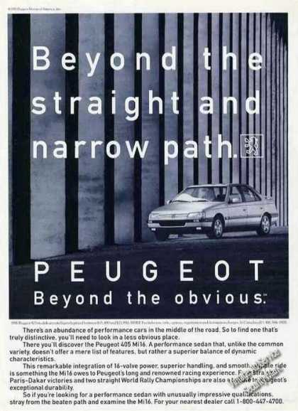 Peugeot Beyond the Straight and Narrow Path (1991)