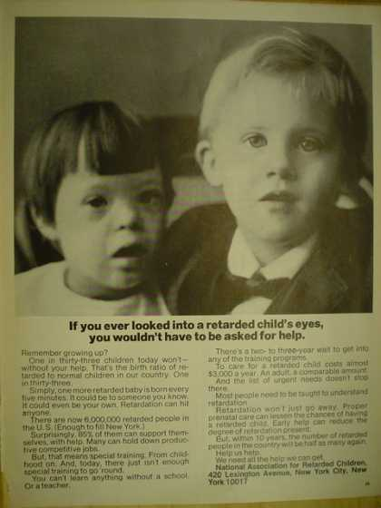 National Association for Retarded Children. Look into a retarded childs eyes (1971)