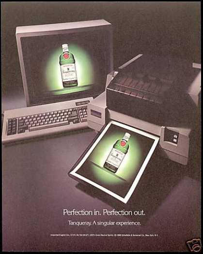 Tanqueray Gin Perfection In and Out (1988)