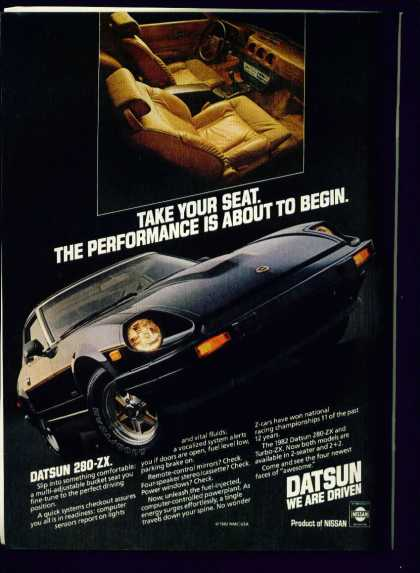 Datsun 280 Zx Product of Nissan (1982)