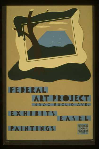 Federal Art Project, 4300 Euclid Ave., exhibits easel paintings. (1938)