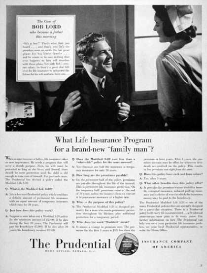 Prudential Life Insurance (1940)
