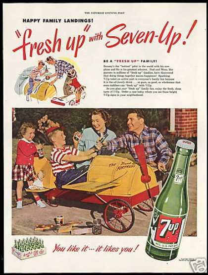 Seven up 7-up Soap Box Airplane Hottest Pilot (1949)