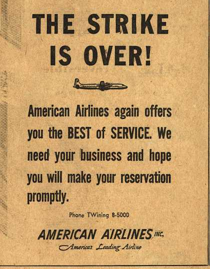 American Airlines – The Strike is Over (1954)