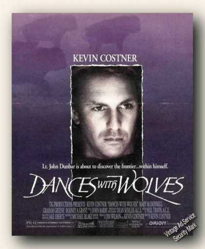 Kevin Costner Photo Dances With Wolves Movie (1990)