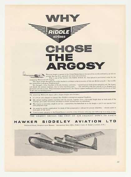 Riddle Airlines Hawker Siddeley Argosy Aircraft (1959)
