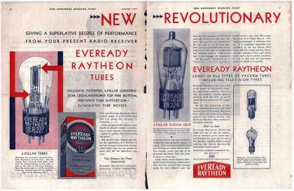 National Carbon Company's Radio Tubes – New, Revolutionary, Giving a Superlative Degree of Performance From Your Present Radio Receiver (1929)