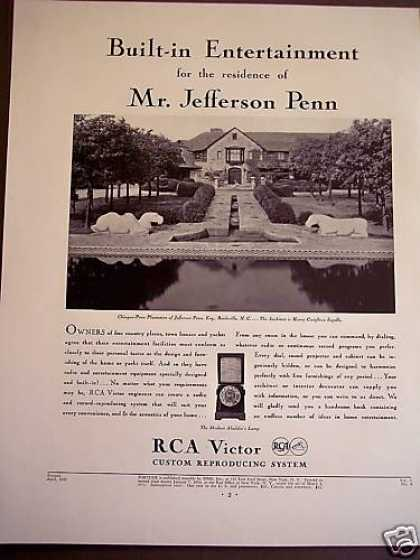 Rca Victor Built-in Entertainment Dial-a-record (1932)