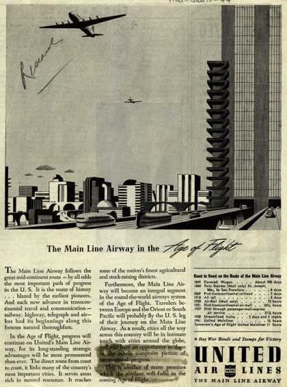 United Air Line's Air Travel – The Main Line Airway in the Age of Flight (1944)
