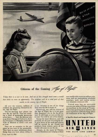 United Air Line's Air Travel – Citizens of the Coming Age of Flight (1943)