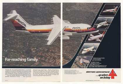 AirCal Airlines BAe 146 Jetliner Photo 2-Page (1986)