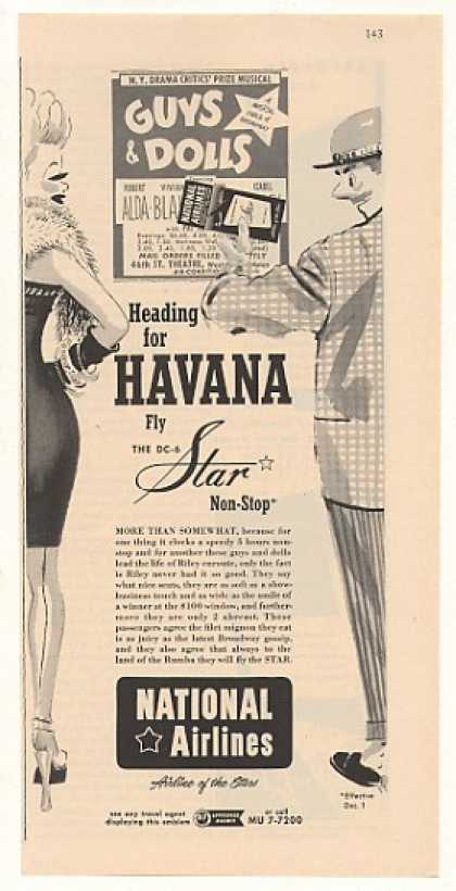 National Airlines to Havana Guys & Dolls (1951)
