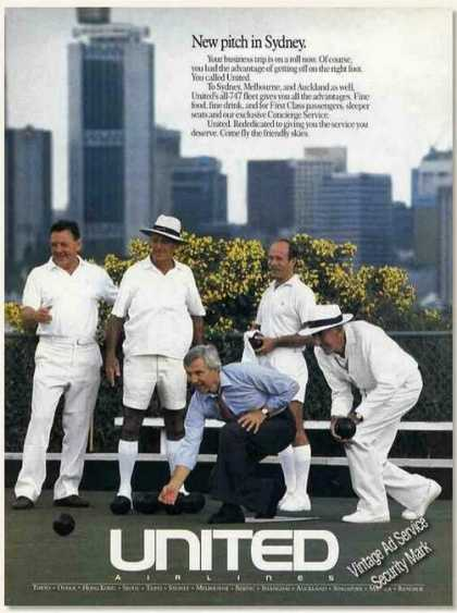 """United Airlines """"New Pitch In Sydney"""" (1989)"""