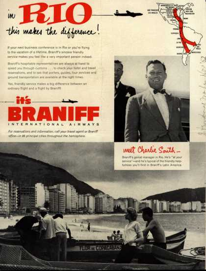 Braniff International Airway's Rio – In Rio, this makes the difference (1952)